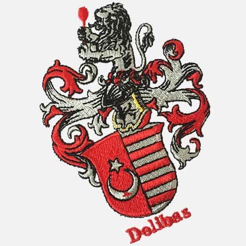 heraldik auf poloshirt sticken