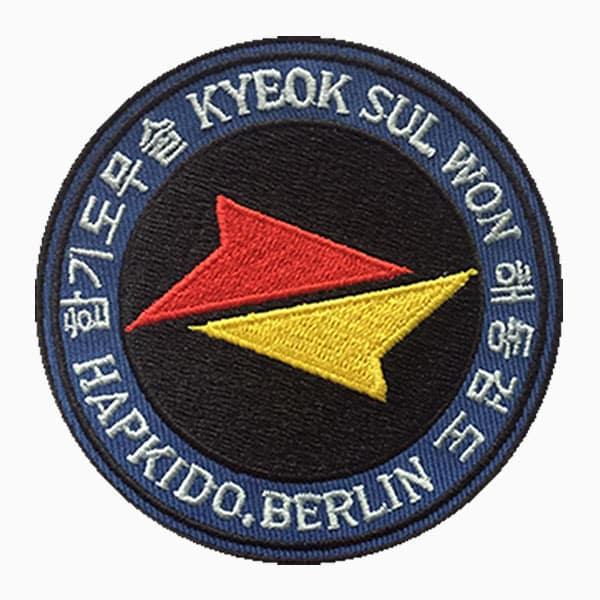 Patches Hapkido Berlin Logo gestickt