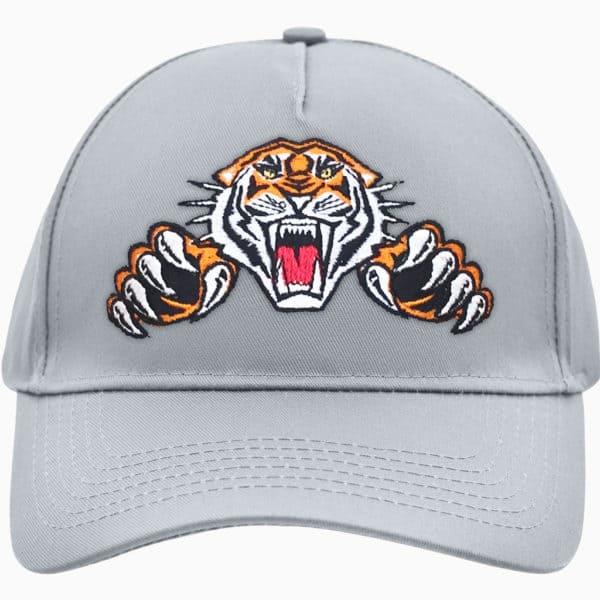 5 Panel Cap Tiger Logo (grey)