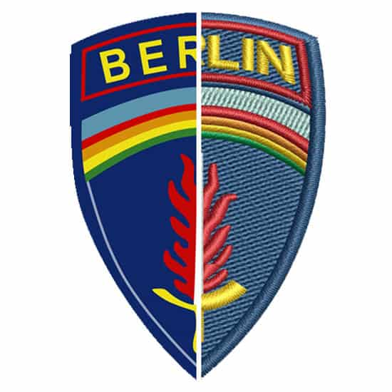 Stickerei Berlin Logo Army Berlin